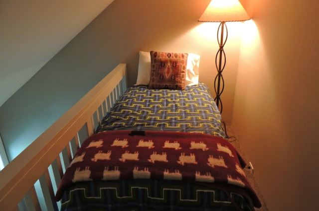 Twin bed on the loft