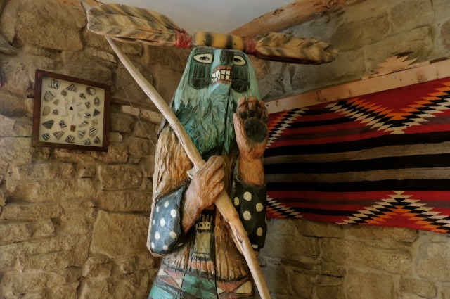 Wood-carved kachina