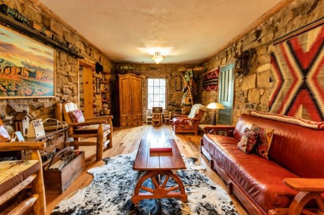 Stone-living room